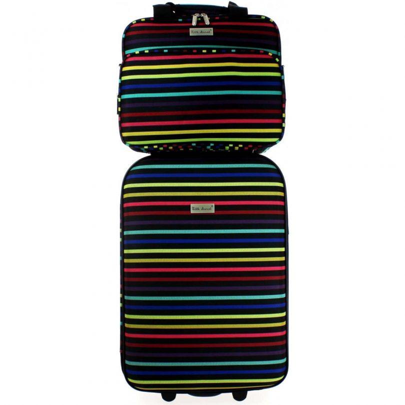 valise little marcel bleu cerise